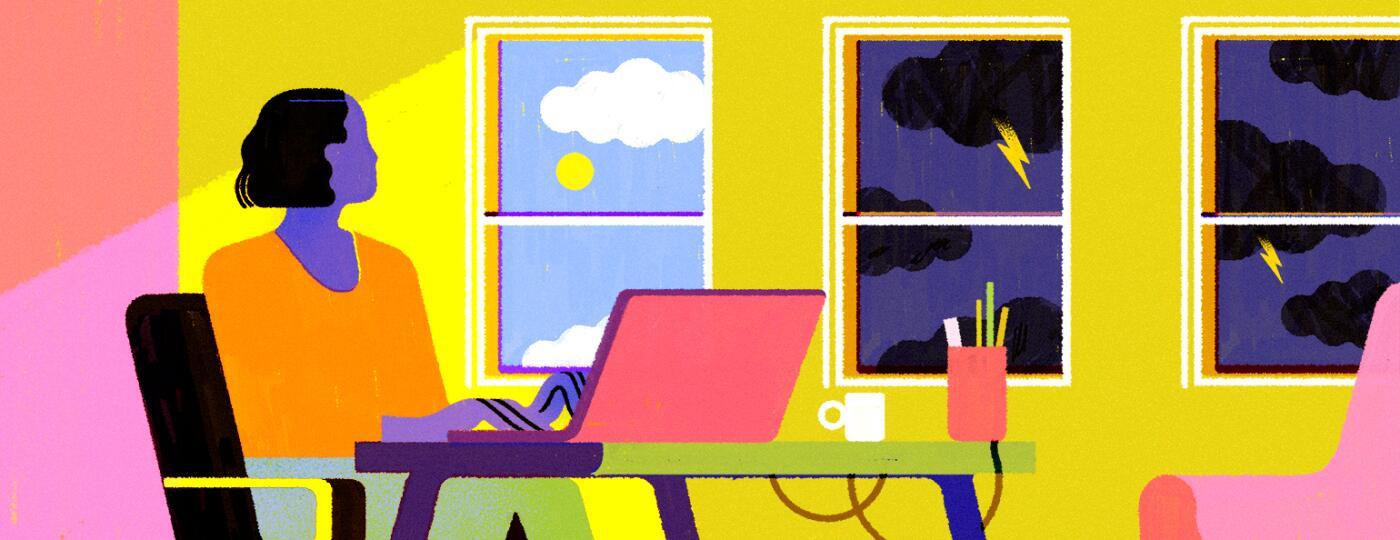 illustration_of_lady_using_her_computer_looking_at_two_types_of_weather_through_windows_by_chiara_ghigliazza_1540x600
