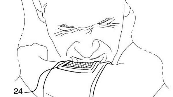 Sneeze catcher patent drawing