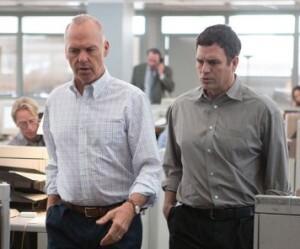 Michael Keaton and Mark Ruffalo in 'Spotlight'