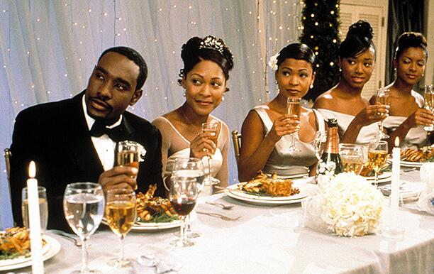 THE BEST MAN, (l to r) Morris Chestnut, Monica Calhoun, Nia Long, Regina Hall, Victoria Dillard, 199