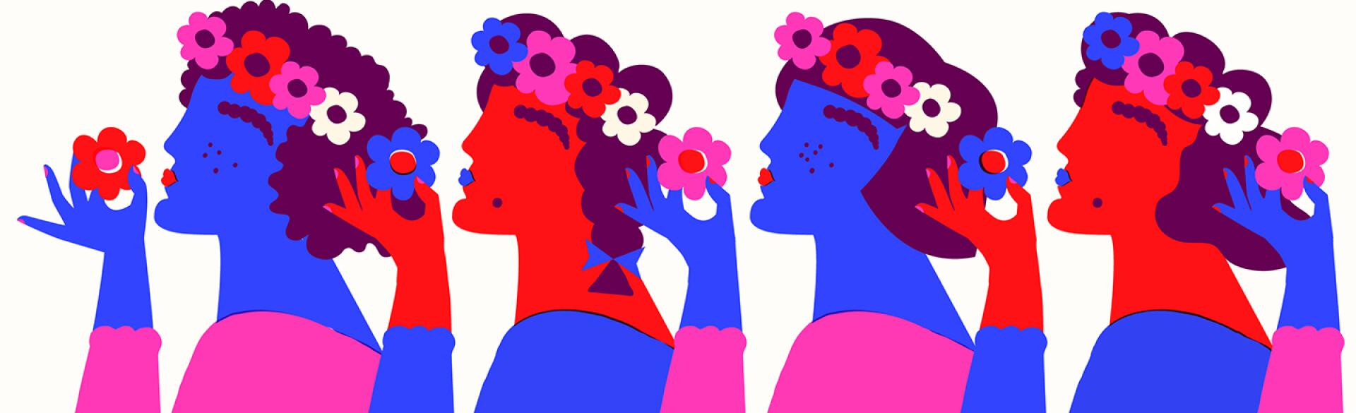 illustration_of_women_putting_flowers_in_their_hair_by_amrita_marino_1440x584