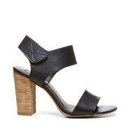Steve Madden Confdnce Black Leather Sandals