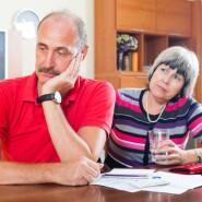 Senior couple worried about finances