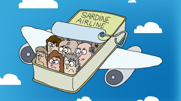 Airplane, Unhappy Passengers, Sardine Can