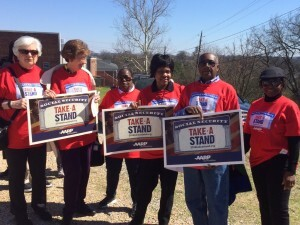 AARP Volunteers with Take a Stand campaign