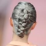 gray hair braid