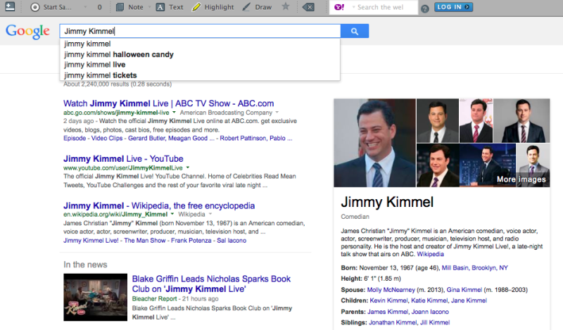 Jimmy Kimmel Search