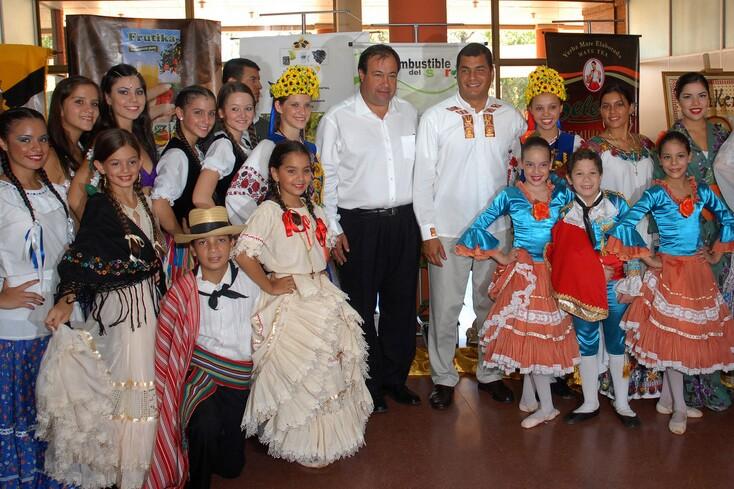 Ecuador's President in Paraguay