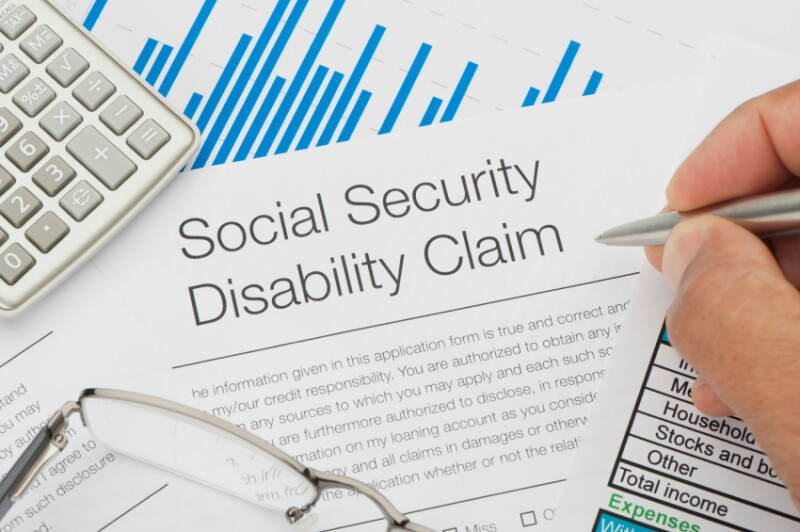 Close up of Social Security Disability Claim
