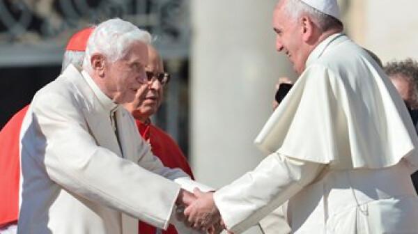 Emeritus Pope Benedict, Pope Francis