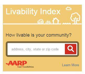 AARP Livability Index Widget