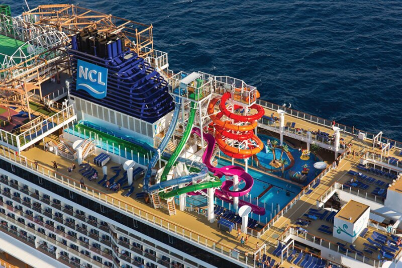 Parque acuático del Norwegian Escape
