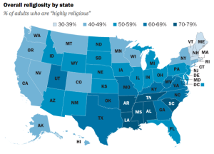How religious is your state