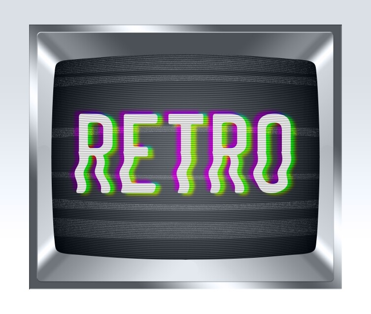 Retro old tv screen with noise