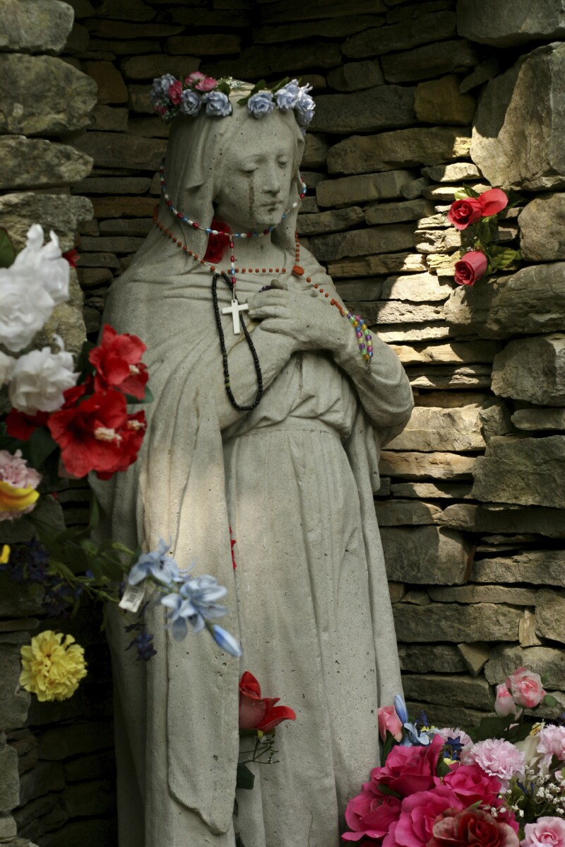 Virgen María llora