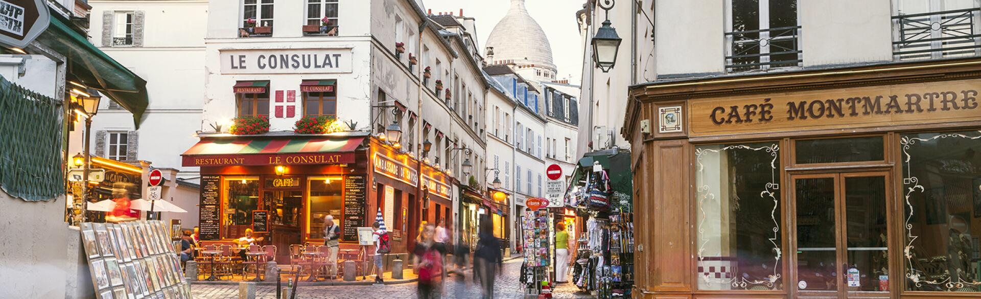 Photo of the streets of downtown Paris France