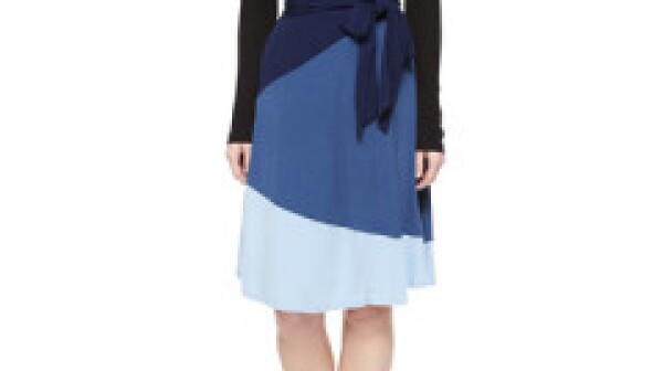 Diane Von Furstenberg Mary Bell Colorblock Wrap Dress