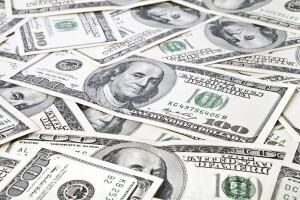 Scattered $100 bills