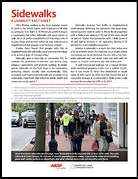 Fact Sheet about Sidewalks