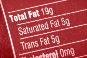 Food label detail on fat content