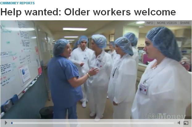 CNNMoney Older Workers Welcome