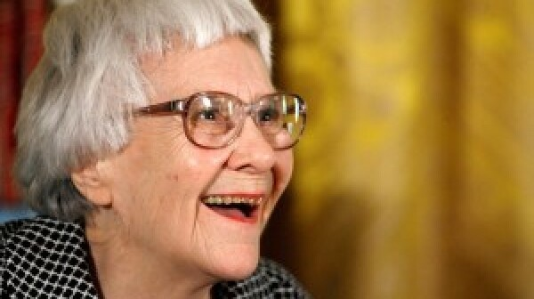 Harper Lee smiling