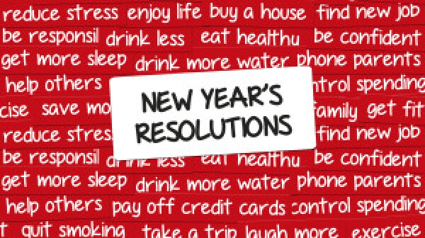 New Year's Resolutions word cloud