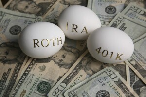 Roth IRA and 401(k) nest eggs