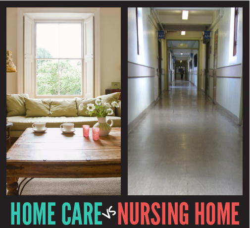 home care vs nursing home