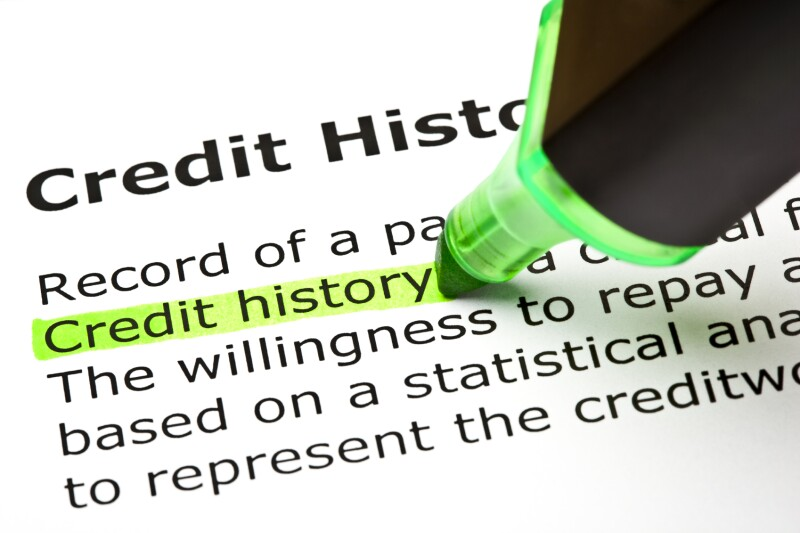 """Credit history"" highlighted in green"