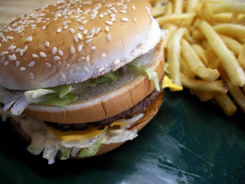 Big Mac hamburger and fries