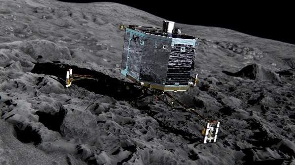 Philae lander on comet - ESA