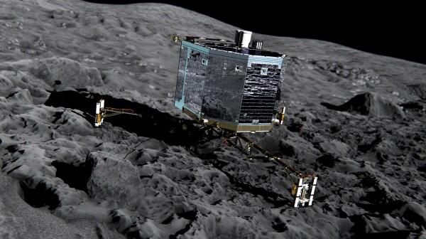 Philae lander on comet - ESA