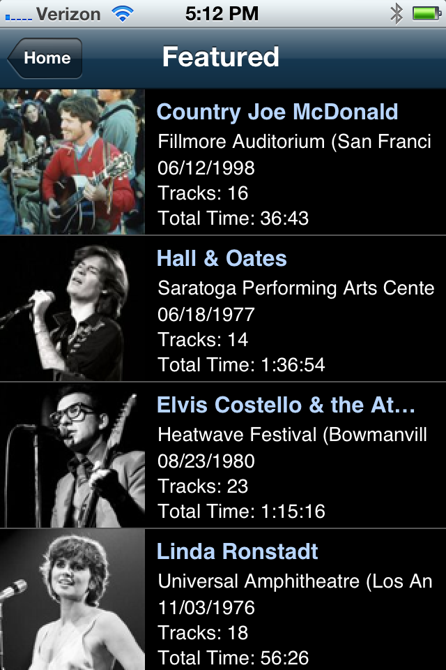 vault featured concerts