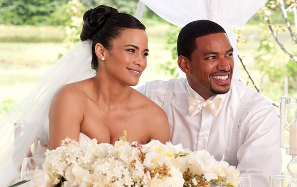 JUMPING THE BROOM, from left: Paula Patton, Laz Alonso, 2011. Ph: Jonathan Wenk/©TriStar Pictures/Co
