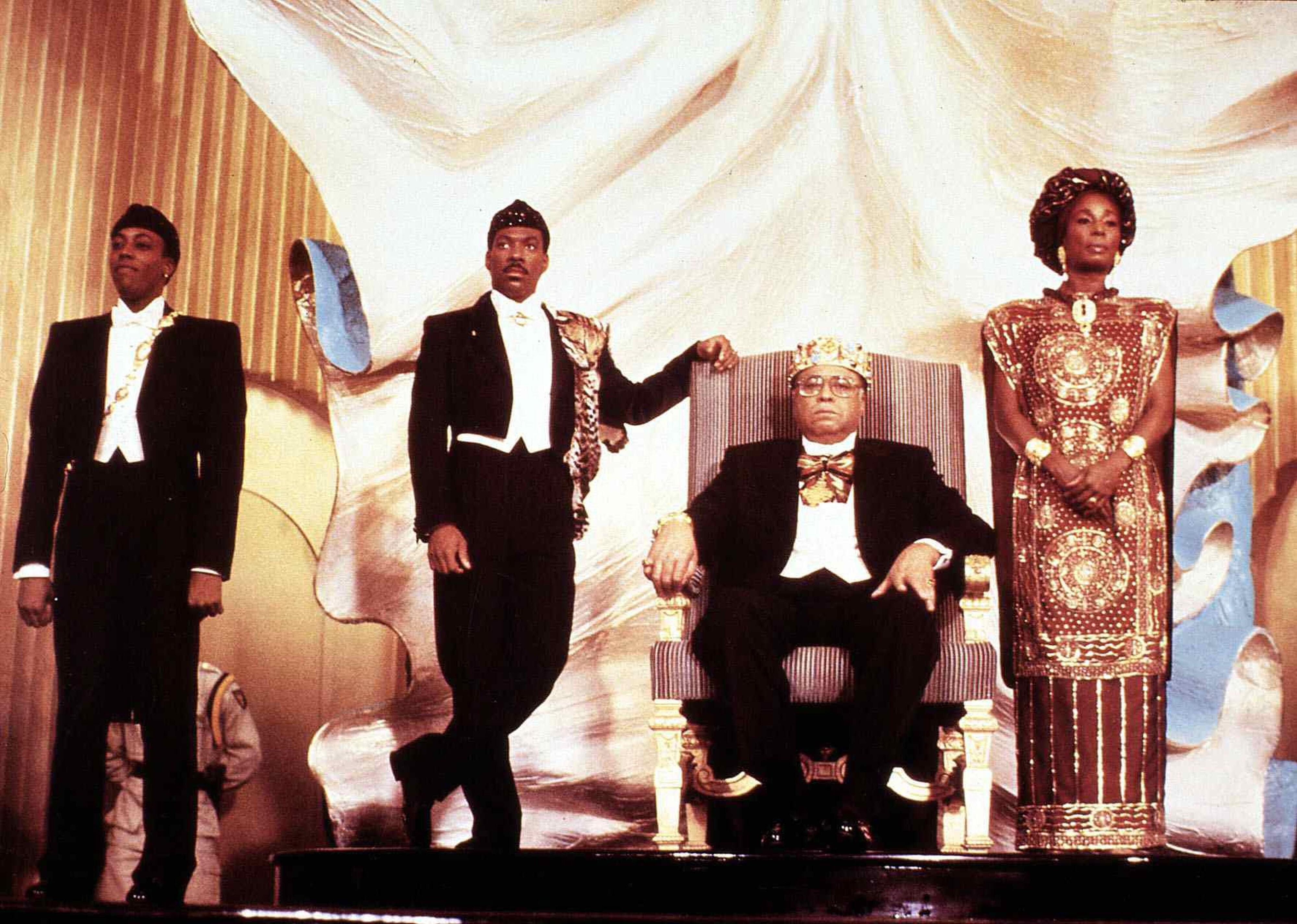 Der Prinz Aus Zamunda  Coming To America  Arsenio Hall, Eddie Murphy, James Earl Jones ,? Koenig Jaffe Joffer (James Earl