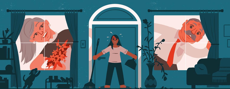 aarp, girlfriend, parents, illustration