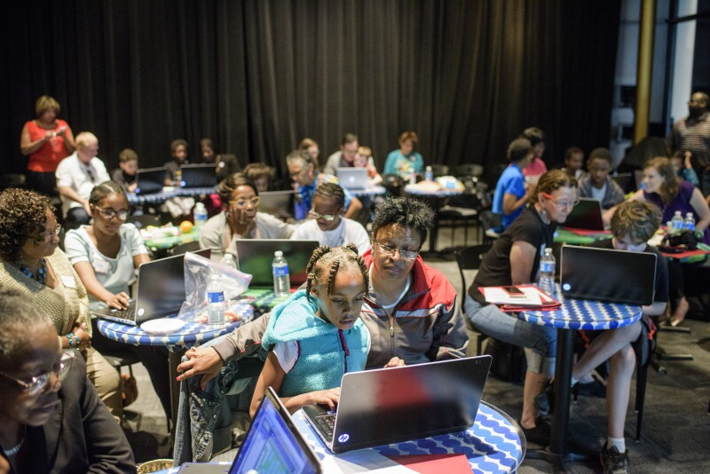 Intergenerational STEM video game design workshop at the Kennedy Center