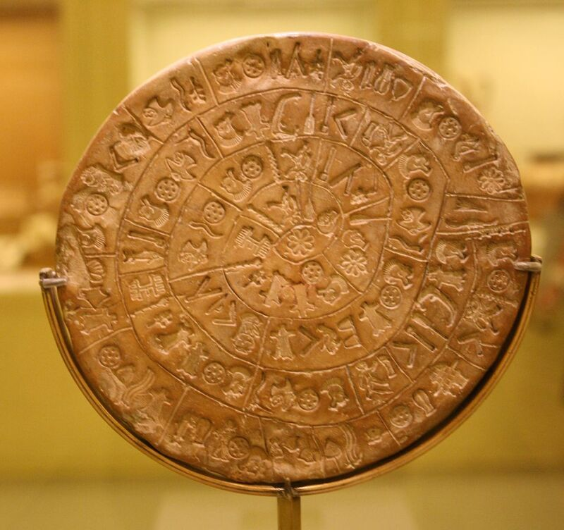 958px-Crete_-_Phaistos_disk_-_side_A
