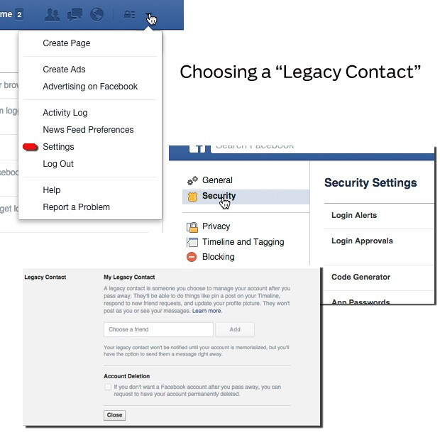 Choosing a Legacy Contact for Facebook afterlife