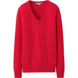 Uniqlo Cotton Cashmere V-Neck Sweater