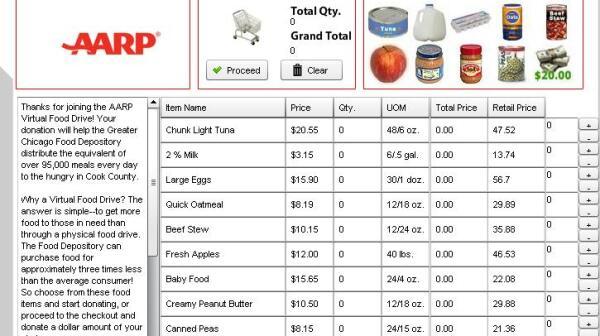 AARP Virtual Food Drive