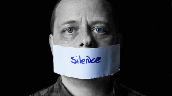 Man silenced with tape