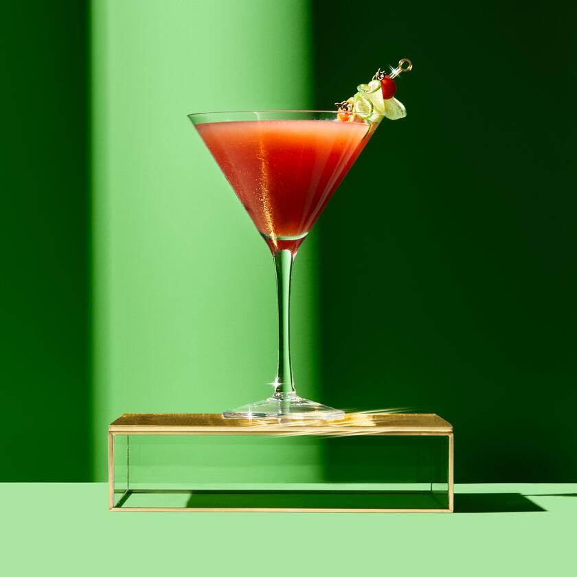 AARP The Girlfriend Cocktails - Dry January Cocktails, Caprese Cocktail.