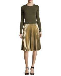 ALC BG Metallic pleated skirt