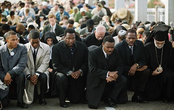SELMA, from left: Trai Byers, Stephan James, Wendell Pierce, David Oyelowo, as Martin Luther King
