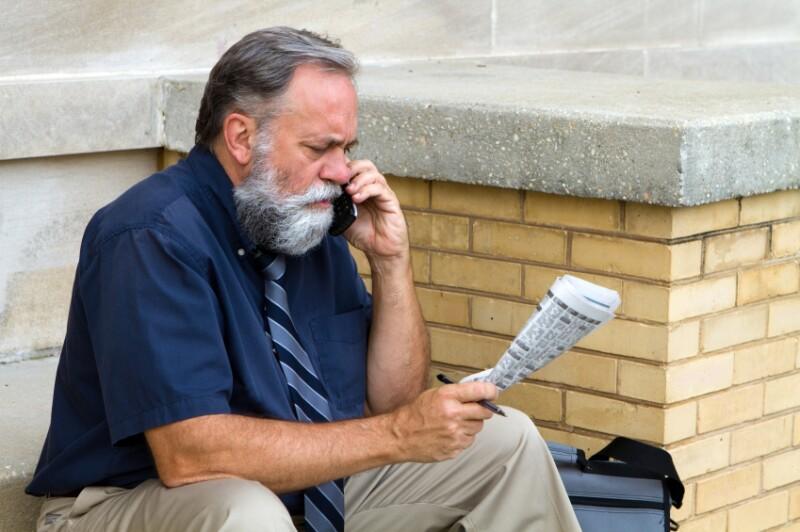 Man Seeking Employment