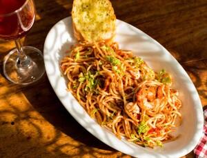 Served Served dinner, pasta crop, closer