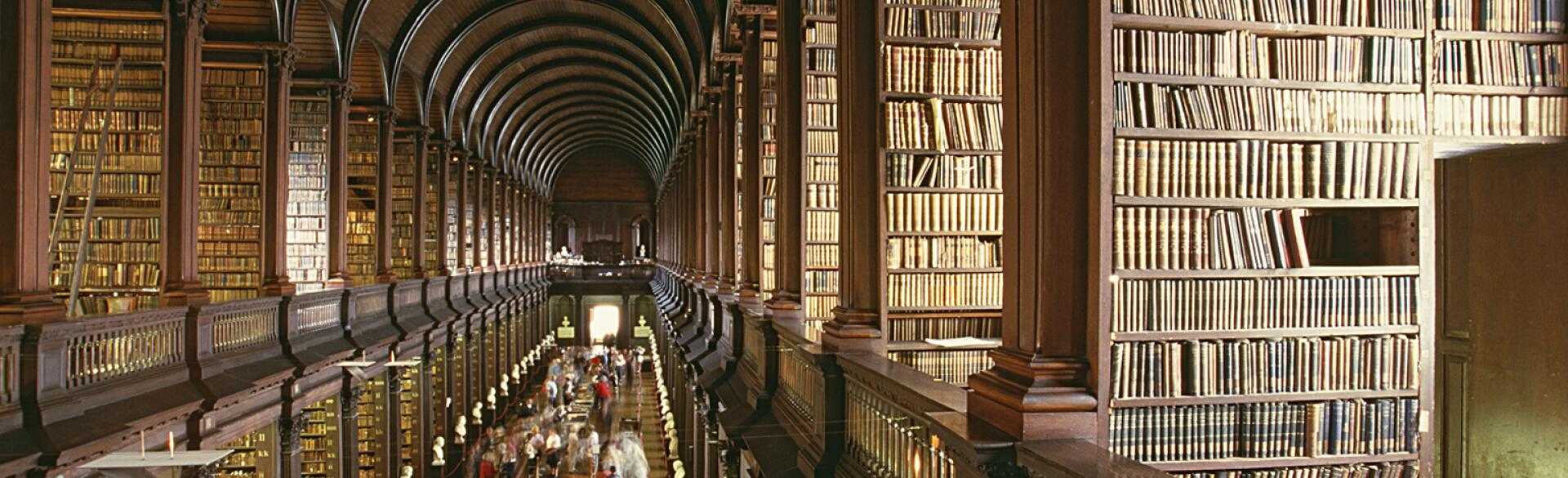 photo of a library in Trinity College in Dublin Ireland
