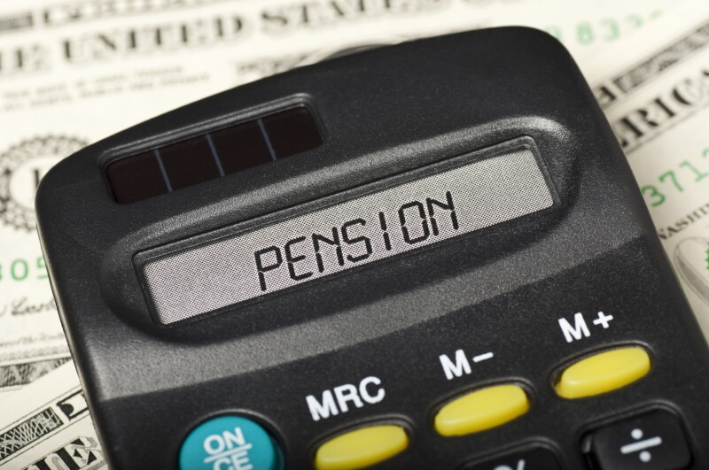 PENSION on calculator display